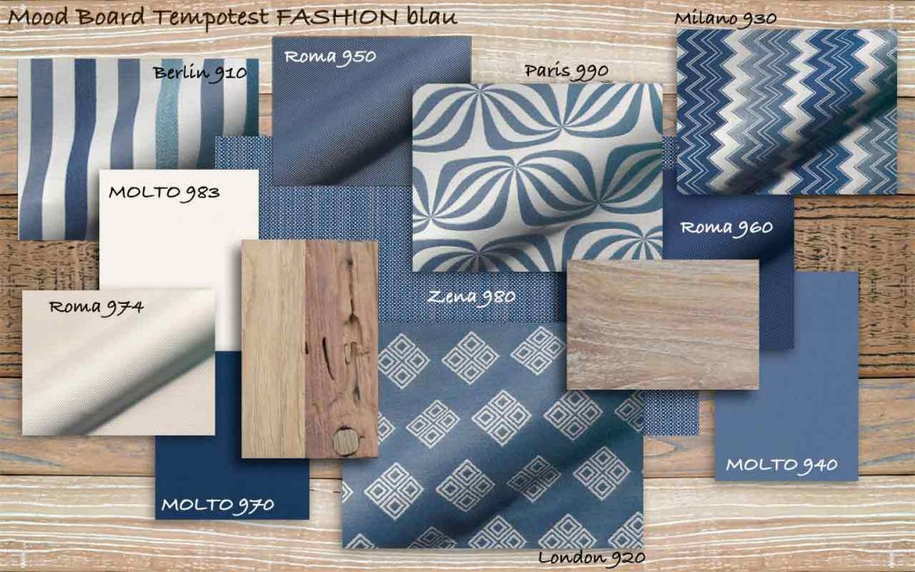 Mood Board FASHION blau